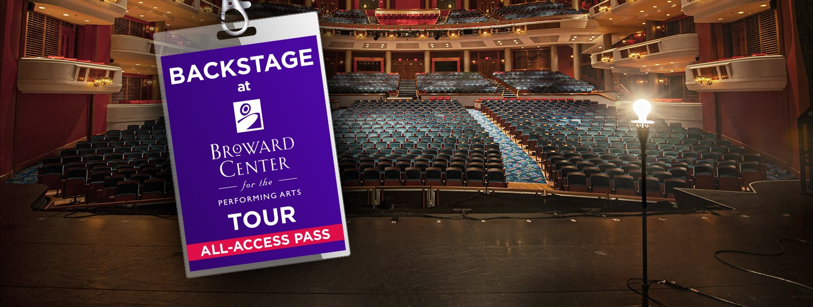 More Info - Backstage at Broward Center Tour