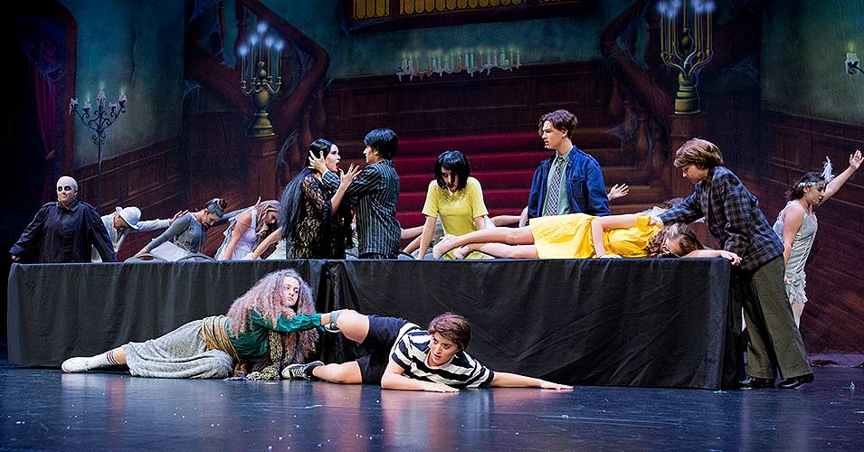 Slide Image - The Addams Family Performed by 2017 Summer Campers